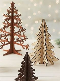 Laser-Cut Wood Tree with Star Laser Art, Laser Cut Wood, Laser Cutting, Laser Cutter Ideas, Laser Cutter Projects, Christmas Wood, Christmas Crafts, Xmas, Christmas Tree Decorations