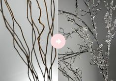 DIY Decorative Iced Branches
