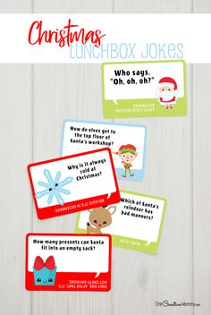 Include adorable Christmas lunchbox jokes in every lunch this December to send a smile to school with your kids. Free Christmas printables for kids. Make School, School Stuff, Lunch Box Notes, Hard Quotes, Kids Board, Toddler Christmas, Parenting Memes, Jokes For Kids, Holidays With Kids