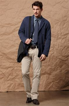 College Male Student- Business Casual look