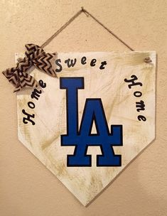 LA Dodgers home plate sign Los Angeles Dodgers by WandNDesigns