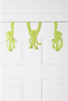 Monkey Door Hook - Set of 3  $24 from Urban Outfitters