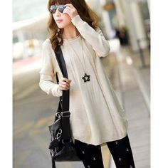 New Fashion 2017 Women Sweater blusas Winter Thick Sweater Dress-Style Pullovers Jumper Spring Knit Tops Brand Vestidos Pullover Thick Sweaters, Casual Sweaters, Pullover Sweaters, Jumper, Sweaters For Women, Dresses For Less, Loose Tops, Easy Wear, Fashion 2017