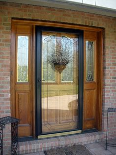 Black Storm Door | The Black Storm Door Keeps The Water From The Door U0026 Also