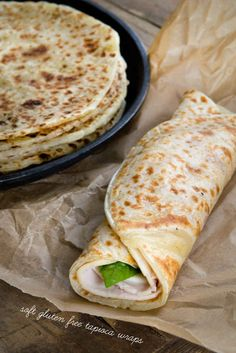 Soft Gluten-Free Tapioca Wraps (filled with turkey, basil, and hummus) | 6 Things Anyone With Stomach Issues Should Know About A Low-FODMAP Diet