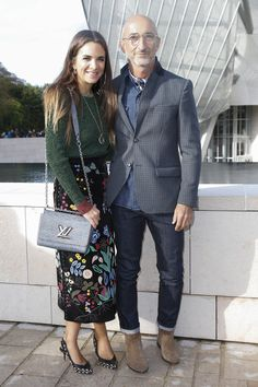 Laure Heriard Dubreuil, Pierre Hardy Louis Vuitton Spring 2016 Ready-to-Wear Fashion Show Front Row