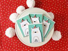 polar bear christmas @justmeprints