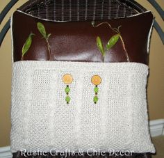 Upcycled Sweater Throw Pillow