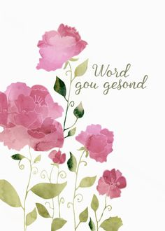 Get Well Soon in Italian, Guarisci presto , Watercolor Peonies card. Personalize any greeting card for no additional cost! Cards are shipped the Next Business Day.