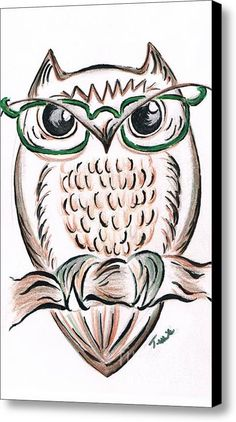 Those Owl Spectacles Canvas Print / Canvas Art By Teresa White