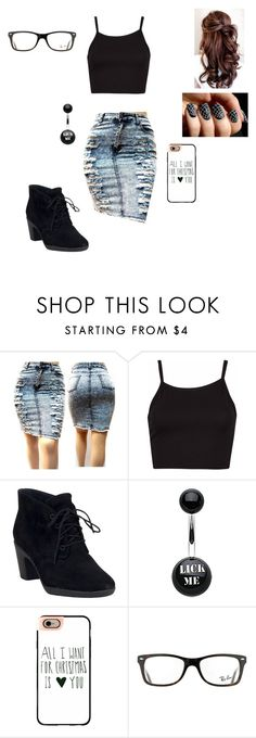 """New girlfriend alright sexy clothes welcome back"" by crystalrose-014 ❤ liked on Polyvore featuring Clarks, Casetify and Ray-Ban"