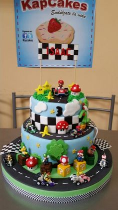 Best Hobbies For Couples Super Mario Party, Super Mario Cake, Mario Kart Cake, Mario Bros Cake, Mario Birthday Cake, Super Mario Birthday, 7th Birthday, Birthday Ideas, Mario Bros Kuchen