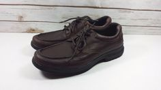 Rockport Adiprene Adidas Brown Oxford Leather Casual Walking Shoes 10 M…