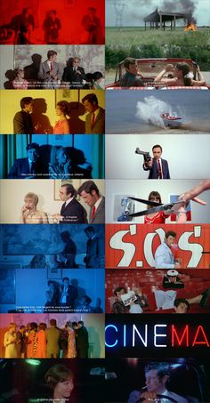 Pierrot le Fou d. Jean-Luc Godard, d. 60s Films, Cinema Quotes, Francois Truffaut, Best Cinematography, Light Film, Movie Shots, French Movies, Jean Luc Godard, Film Images