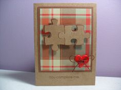Handmade Anniversary/Love Card  You Complete Me  by GGgreetings, $3.75