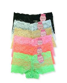 Mamia Womens Sexy Lace Panties 6pk LP7923LH L Mix   Details can be found by  clicking 817f59d9f