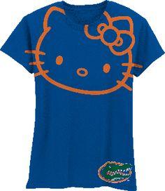 Hello Kitty Florida Gators Orange Outline $24.99