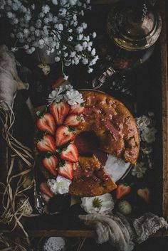 Strawberry Buckwheat Hot Milk Cake (Vegan & Dairy-free) | collab. with | TermiNatetor Family Kitchen | A food and photography blog