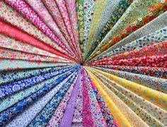 "40 LIBERTY of London Fabric Tana Lawn 5"" x 5"" Patchwork Charm Squares 'Tiny Flowers',Liberty Fabric Bundles"