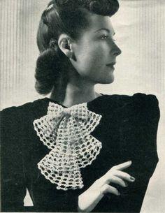 vintage crochet jabot pattern - 1930s