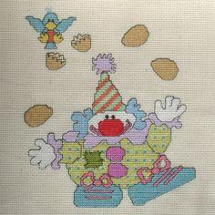 Juggling Clown Cross Stitch Pattern by StitchNotions on Etsy, $3.00