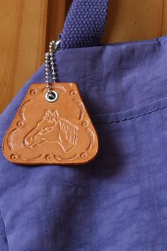 Horses Head Bag Charm  Leather Horse Bag by TinasLeatherCrafts. Repin To Remember.