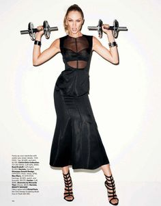 BEAUTIFUL outfit! - Candice Swanepoel teams up with Terry Richardson for another sports-themed editorial featured in the February issue of Harper's Bazaar US. Styled by Brana Wolf,