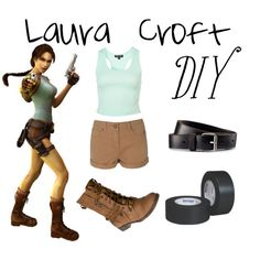 laura croft tomb raider by corkymac on Polyvore featuring Blonde + Blonde, H&M, LARA, women's clothing, women's fashion, women, female, woman, misses and juniors