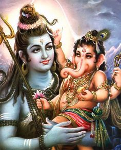 Lord Shiv Ji and his son Lord Ganesh!