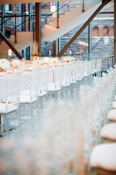 more reasons to love lucite chairs. #wedding #decor