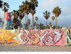 Venice Beach Graffiti.  this wall changes all the time.  along the bike path #losangeles