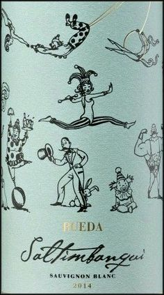 Wine Labels PD - Reuda Saltimbanqui Saugvignon Blanc 2014 __[grow-tdc.com] #cTeal