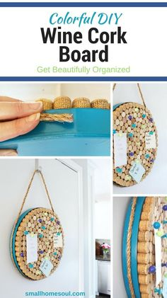 Put all those wine corks to good use with this easy DIY Wine Cork Board. Get organized in your kitchen or office with this easy craft project.