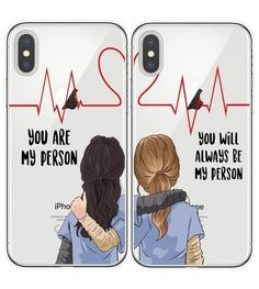 Grey's Anatomy BFF Matching Phone Cases Do you and your best friend bond over the show Grey's Anatomy? Raise your BFF game with these cute matching Grey's Anato. Best Friend Cases, Love You Best Friend, Friends Phone Case, Best Friends, Bff Iphone Cases, Bff Cases, Cute Phone Cases, Iphone 4s, Apple Iphone