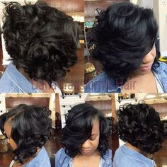 STYLIST FEATURE| Sexy #quickweave bob ✂️styled by #NewOrleansStylist @DanaChanelHair at @friendssalonnola So fly#VoiceOfHair