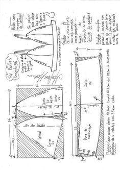 Corset Sewing Pattern, Bra Pattern, Dress Sewing Patterns, Clothing Patterns, Fashion Patterns, Skirt Patterns, Coat Patterns, Pattern Drafting, Blouse Patterns
