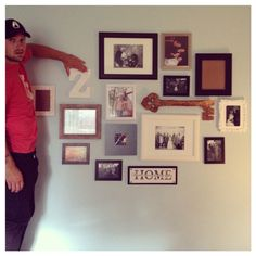 My hand picked and hand crafted #photowall #DIY #crafts #homedecor