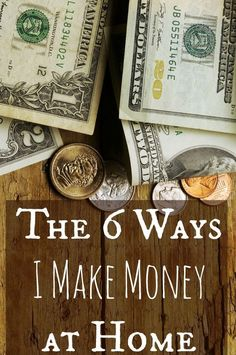 Six awesome ways to make money while staying at home with kids! make money from home, ways to make money at home
