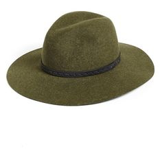 rag & bone Wide Brim Fedora (2 985 ZAR) ❤ liked on Polyvore featuring accessories, hats, green multi, green fedora, green fedora hat, brimmed hat, wide brim hat and leather fedora