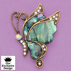 Dazzling Butterfly Pin - AmeriMark - Online Catalog Shopping for Womens Apparel | Beauty Products | Jewelry | Womens Shoes | Health | Wellness