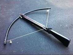 The Best homemade crossbow you'll ever find, Goes through plywood - YouTube