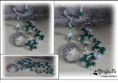 Blessing Moon Malachite and Moonstone Pagan by BrighidsJewellery, £19.99