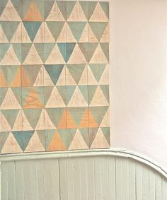 hand-dyed wood tiles