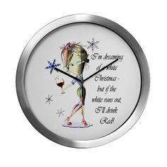 Im dreaming of a white Christmas Modern Wall Clock