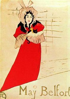Jardin de Paris, May Belfort, Plakat (1883) - Henri de Toulouse-Lautrec