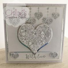 Dies by Chloe Blossoming Heart - - As Seen on TV - Chloes Creative Cards Chloes Creative Cards, Stamps By Chloe, Crafters Companion Cards, Boyfriend Crafts, Die Cut Cards, Valentine's Day Diy, Valentines Diy, Anniversary Cards, Clear Stamps