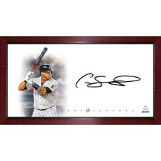 d93dea292 GARY SANCHEZ Signed New York Yankees Batting Big Sig 16x32 Photo STEINER --  Awesome products