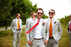 coral groomsmen - Google Search