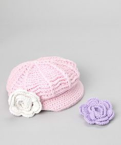Take a look at this Light Pink Newsgirl Hat & Clip Set by AdoraBelle Pettiskirts on #zulily today!