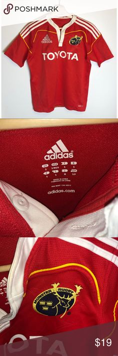 Munster Rugby Training Jacket Pullover 14 Zip Adidas